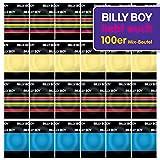 Billy Boy Kondome 100er Beutel Mix-Sortiment aus bunten, perlgenoppten,...