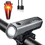 LIFEBEE LED Fahrradlicht Set, StVZO Zugelassen USB Wiederaufladbare...